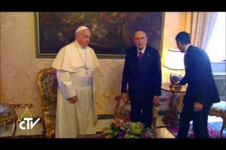 Papa Francesco al Quirinale: la Chiesa è con l'Italia
