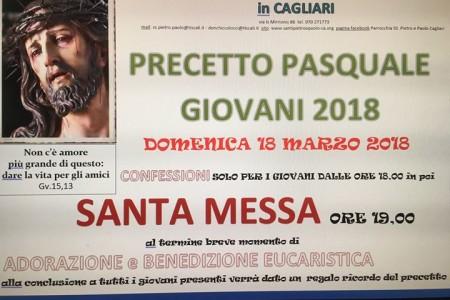18.3.2018 OMELIA PRECETTO PASQUALE GIOVANI