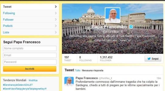 Tragedia Alluvione in Sardegna: il Papa si commuove