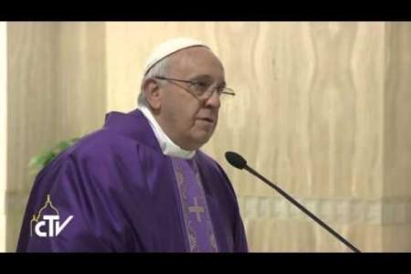 Papa Francesco: lasciamo al Signore di scrivere la storia